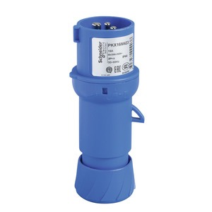 CEE Stecker, Schneidklemmen, 16A, 3p+E, 200-250 V AC, IP44