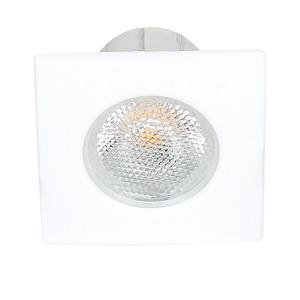 LED Mini Spot Q weiß 3,3W warmweiß 22°, LED Mini Spot Q weiß 3,3W warmweiß 22°