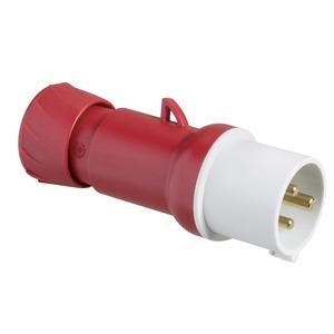 CEE Stecker, Schraubklemmen, 32A, 2p+E, 380-415 V AC, IP44