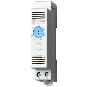 7T.81.0.000.2301, Thermostat für Schaltschrank, Reiheneinbaugerät 17,5 mm breit, 1 Schließer 10 A, einstellbar von -20 bis +40 °C