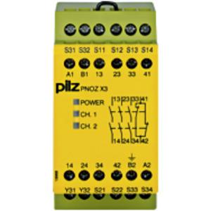774318, PNOZ X3 230VAC 24VDC 3n/o 1n/c 1so