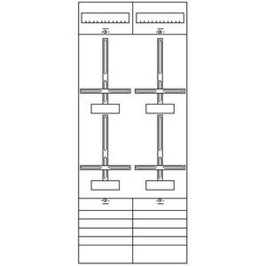 2ZF42, Zählerfeld BH4 2-Feld nicht verdrahtet mit Zählerkreuz