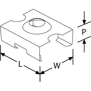 EN-CHC2, Montagehalterung für Profil