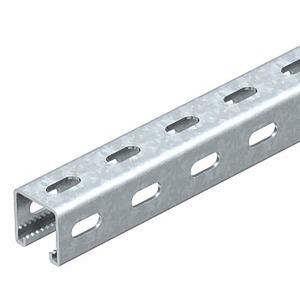 MS4141PP6000FT, Profilschiene mit Seitenlochung,Schlitz 22mm 6000x41x41, St, FT