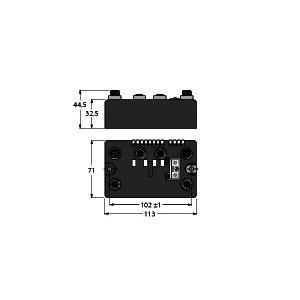 BLCDP-2M12MT-2RFID-S, BL compact Feldbus Station für PROFIBUS-DP, Interface zum Anschluss von 2 BL Ident Schreib-Leseköpfen (HF/UHF), BL ident®