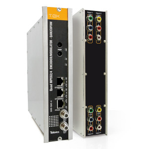 T-0X - QUAD - Modulator, 4 x AV in QAM oder COFDM