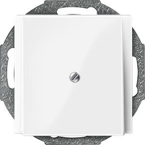 Zentralplatte Leitungsauslass, polarweiß glänzend, System M