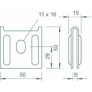 K12 1818 A2, Wandbefestiger für Gitterrinne 50x59, V2A, A2