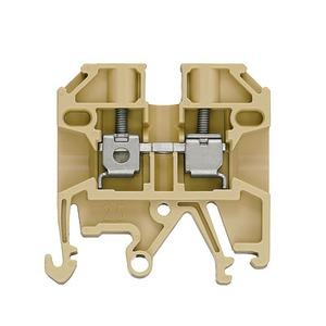 SAK 2.5/EN, Durchgangs-Reihenklemme, Schraubanschluss, 2.5 mm², 800 V, 24 A, Anzahl Anschlüsse: 2, TS 35, TS 32, beige/gelb