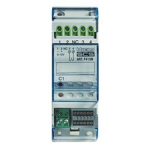 Steuergerät 1–10 V, zur Ansteuerung von elektrischen Vorschaltgeräten mit 1–10 V, 1 Schließer, 2 TE DIN