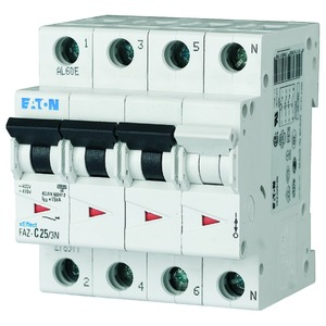 FAZ-C20/3N, Leitungsschutzschalter, 20A, 3p+N, C-Char