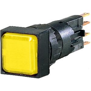Q25LF-GE/WB, Leuchtmelder, flach, gelb, + Glühlampe, 24 V