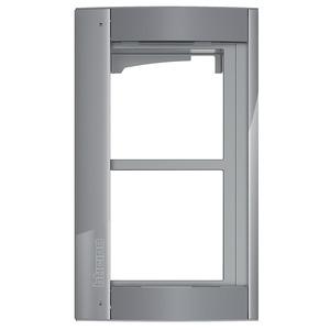 Bticino 350223, Abdeckrahmen + Modulträger 2 Module, Türstation SFERA Aluminium, Farbe Allstreet
