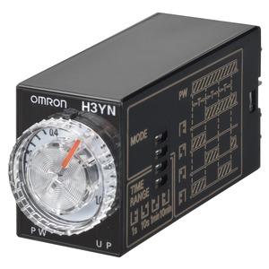 H3YN-41-B DC100-110, Zeitrelais, steckbar, 14-Pin, Multifunktion, 0.1m-10h, 4 Wechsler, 3A, 100-110VDC Ansteuerung, schwarz