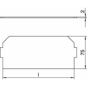 LPA GB3, Leerplatzabdeckung 208x76mm, PVC, graphitschwarz, RAL 9011