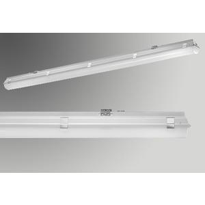 HLUNAP136LED, FR-Leuchte LUNA P LED 136 1x27W 1278mm 2800lm IP66 4000K, Einzelleuchte ohne DV, SK I, V2A Clip