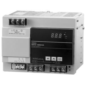 S8VS-48024A, Schaltnetzteil, 480 W, 100 bis 240 VAC Eingang, 24 VDC 20 A Ausgang, DIN-Schienenmontage, mit Digitalanzeige, NPN
