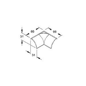EDKI35.3, Inneneck/T-Stück, 31x31 mm, Kunststoff ASA, RAL 9010, reinweiß