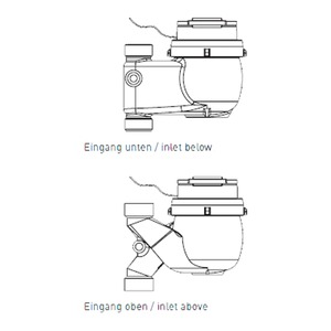 KNX Warm-Wasserzähler GWF MTWcoder MP-V; Q3 10 / DN32 / 150mm / G1 1/2 / vertikal, auf / 90°C