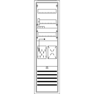 KS3216, Komplettschrank, Aufputz mit BKE-I, 1/3A 1Z1R Schutzklasse II, Schutzart IP31