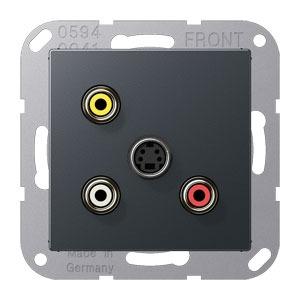 MA A 1051 ANM, Cinch Audio, Composite Video und S-Video, Tragring, Schraubbefestigung, bruchsicher
