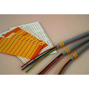 Kennband Ziffer ¨21¨ aus tesaband 4660 gelb mit schwarzem Druck, 1 Packung = 20 Blatt a 10 Stk. = 200 Stk.