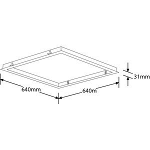 EN-CRM660A, 600 x 600mm Panel Einbaurahmen