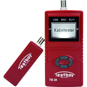 HNETZWERKTESTER, Netzwerkverdrahtungstester mit Längenmessung, RJ45, USB, Koax
