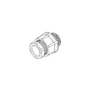 251/11, CONUS-Kabelverschraubung, Pg 9, für Kabel-Ø 6-9 mm,Gewindelänge 15mm, Kunststoff PS, RAL 7035, lichtgrau