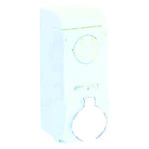 Wandsteckdose verriegelt, 63A, 3p+N+E, 480-500 V AC, IP65