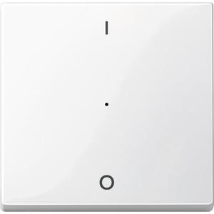 Wippe für Tastermodul 1fach mit Aufdruck 1/0, polarweiß glänzend, System M