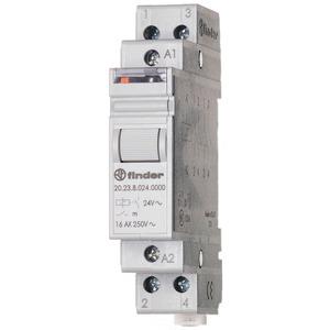 20.23.8.230.4000, Stromstoßschalter für Reiheneinbau, 1 Schließer und 1 Öffner 16 A, Aus An/An Aus, für 230 V AC