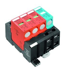 VPU I 3+1 R 280V/12,5KA, Überspannungsableiter (Energietechnik/Stromversorgung), mit Fernmeldekontakt, Typ I + II, Netzform: TN-C-S, TT, TN-S, IT mit N, III, IV, AC, 230 V