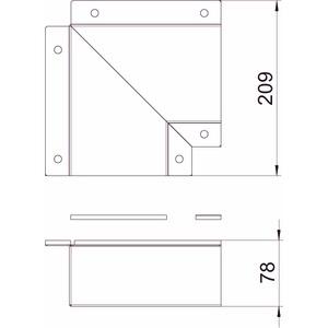 BSKM-FW 0711RW, Flachwinkel für Wand- und Deckenmontage 70x110, St, L, reinweiß, RAL 9010