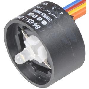 Schaltelement mit Beleuchtung grün 24VDC/20mA 1S Kabel 300 mm Au