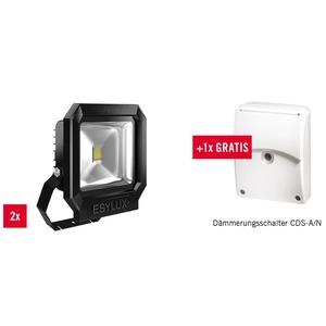 Paket EL10002830, Paket OFL SUN LED 50W 5K schwarz bestehend aus: 2 Stück OFL SUN LED 50W 5K schwarz + 1 Stück CDS-A/N weiß kostenlos