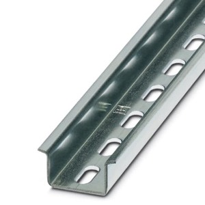 NS 35/15 WH PERF 2000MM, Tragschiene gelocht-NS 35/15 WH PERF 2000MM