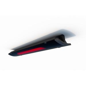 MHS-PE2400AB.100, Design Glasheizstrahler PURE 2400 Watt, Korpus schwarz / Front schwarz, mit Kippschalter zur Stufenschaltung, inkl. Montagezubehör