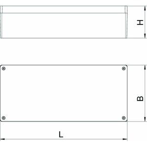 Mx 361609 SGR, Aluminiumleergehäuse 360x160x91, AlG, P, silbergrau, RAL 7001