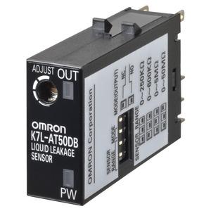 K7L-AT50B, Leckage-Sensor auf Leitfähigkeitsbasis, Miniatur-Stecker, einstellbare Empfindlichkeit - 250kOhm bis 50MOhm, schwarz