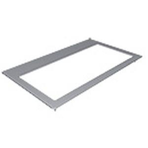 Eloxiert, zur Montage auf der Tischplatte für CablePort flex 7448000020, Außenmaß: 361 x 220 mm