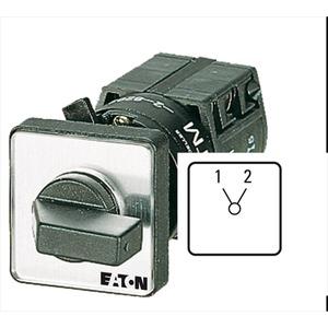 TM-1-8220/EZ, Umschalter, TM, 10 A, Zentraleinbau, 1 Baueinheit(en), Kontakte: 2, 60 °, rastend, ohne 0-Stellung, 1-2, Abwicklungsnummer 8220