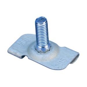 4J15M, 4J15 Drehklipp mit Gewindestift, schmale Rasterdeckenschiene, 15 mm (1) Rastermaß, M6 Schraube, 16 mm (0,63) Schraube