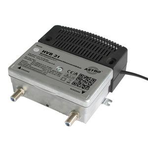 NBA31DB.1, Universeller Breitbandverstärker / Vorweg 31 dB / Ausgangspegel Vorweg 99 dBµV / Verstärkung Rückweg 25 dB