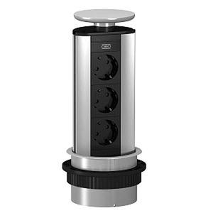 DBV-A3A D3S, Deskbox, versenkbar zum Einbau in Tischplatten, Alu, EL, alu