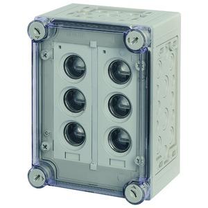 RS33/I23E, Sicherungskasten, 2x3xE33, HxBxT=250x187,5x150mm