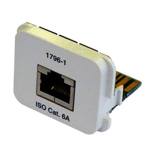 INSERT CAT6a 1x RJ45 T568A /W