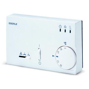 KLR-E 52552 4p, Klimaregler 5-30C, AC 230V, 1We, Neutralzone, H/K 10A, Lüfter S/M/L 6A, Ein/Aus