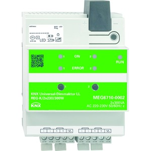 KNX Universal-Dimmaktor LL REG-K/2x230/300 W, lichtgrau
