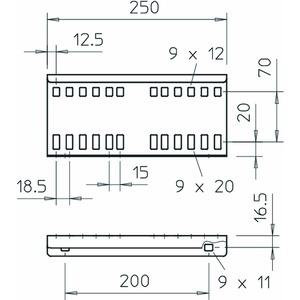 LVG 110 FT, Längsverbinder für Kabelleiter 114x250, St, FT